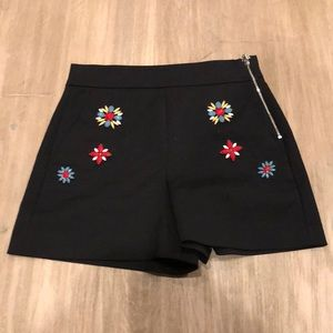 Zara embellished shorts